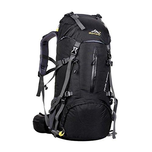 Generic 50 Liter Wanderrucksack, Wasserdichter Rucksack, perfekt für Wander, Klettern, Bergsteigen, Radsport - Reiserucksack Schwarz