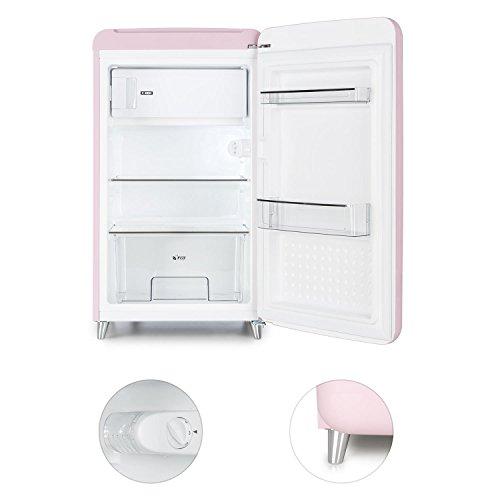 Klarstein PopArt Pink Kühlschrank mit Gefrierfach im Retro-Design - 4