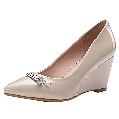MissSaSa Donna Scarpe col Tacco Elegante Slipsole apricot
