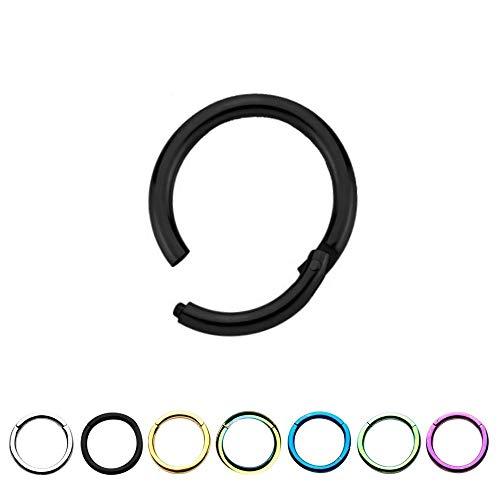 Treuheld Segmentring Piercing - Klicker - Segmentklicker - [01.] - 1.2 x 8 mm - Farbe: Silber