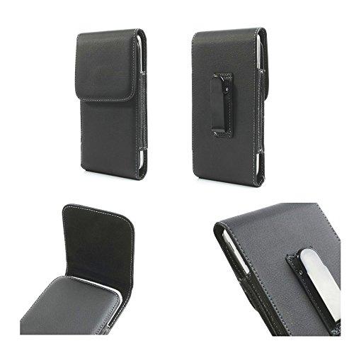 DFV mobile - Leather flip belt clip metal case holster vertical > lenovo a630, color black A630 Belt