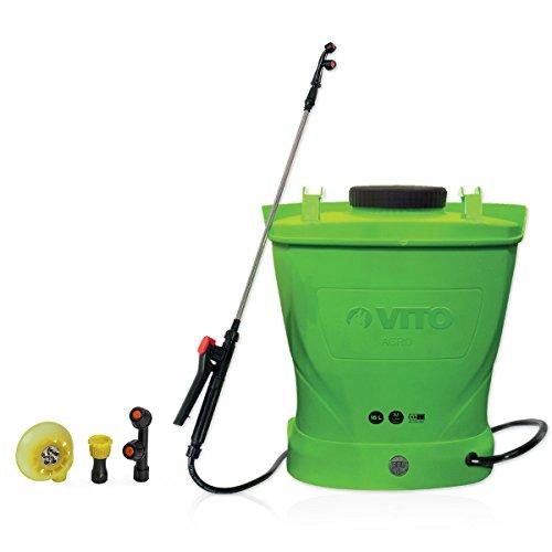 Pulvérisateur à Batterie VITO 12V/2,2A 16L 6 Bars Max autonomie 4h Chargeur Inclus Végetaux Jardin toitures