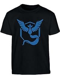 Go Team Blau Team Mystic Logo Kinder T-Shirt - Gr. 140-182