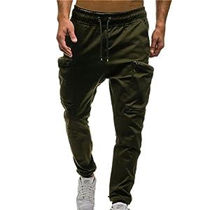 Männer Schmale Passform Sport Hosen Tasche Freizeit Hosen Einfarbig Tarnung Sport Hosen Khaki/Grau/Grün/Schwarz/Rot/Army Green