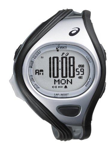 Asics Unisex-Armbanduhr DIGITAL SPORTWATCH CHALLENGE L schwarz/silber Digital Plastik CQAR0401