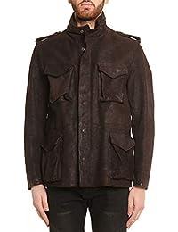 Stewart Field Jacket Uomo Normann Regular Fit in Pelle di Bufalo Cerato e  Spazzolato T. 4989dbcca05d