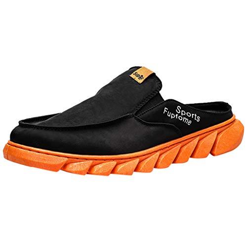 Orange Canvas Schuhe (XNBZW Herren Leichtes Sneaker Sportschuhe Laufschuhe Neue Herrenschuhe Mesh-Schuhe Freizeitsportschuhe Sind Im Sommerschuh Atmungsaktiv(Orange,44 EU))