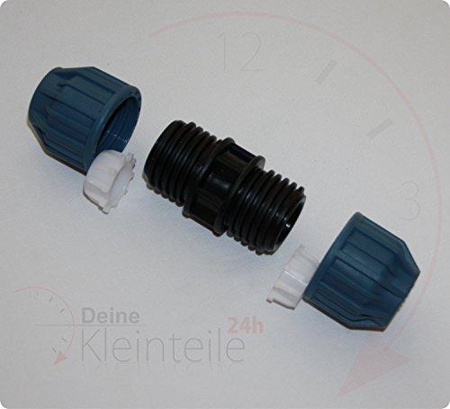 Deine-Kleinteile-24 PE Tuyau connecteur de Serrage Plastique PP klemmfitting Raccord Manchon Transition, 16mm - 16mm
