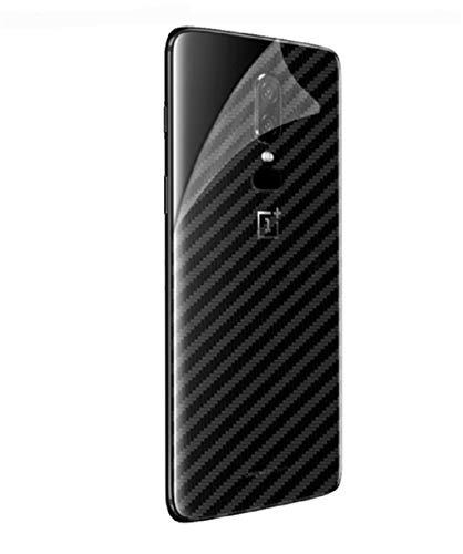 Xin Ling 2 Stück OnePlus 6 Back Folie, [Transparent, 0,01mm Ultra Slim&Kohlefaser Struktur] Rutschfest Matt Schutzfolie Gasdurchlässig Kratzfest Handy Film für OnePlus 6 6,28