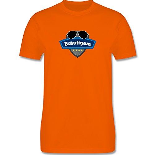 JGA Junggesellenabschied - Bräutigam Police - Herren Premium T-Shirt Orange