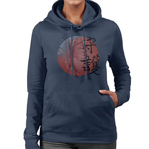 Pokemon Vulpix Nintales Protector Women's Hooded Sweatshirt Navy Blue