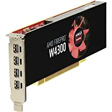HP AMD FirePro W4300 4GB Graphics FirePro W4300 4GB GDDR5 - Tarjeta gráfica (AMD, FirePro W4300, 4096 x 2160 Pixeles, 930 MHz, 4 GB, GDDR5)