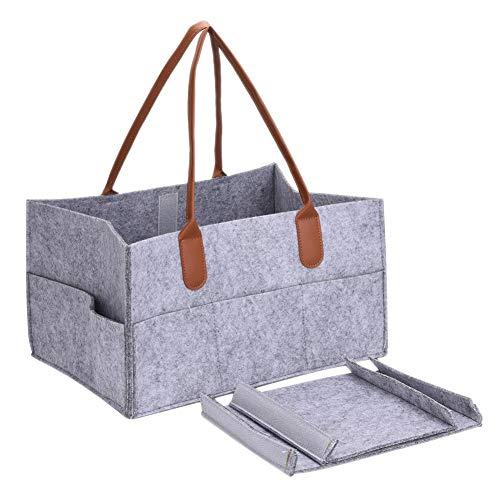 nicololfle Filz Aufbewahrungsbox, Multifunktions Faltbare großen Korb tragbare Organizer Box mit Griff für Kleidung/Kinderspielzeug/Zeitschriften