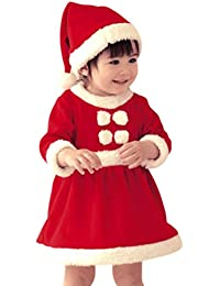 Wuiyepo Noël Vêtements de bébé Enfants Garçons Filles Toddler Enfant Mignon Petits garçons Père Noël Costume Romper Avec Chapeau Sets de vêtements
