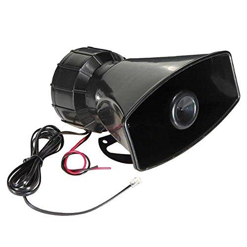Forepin® 80W 12V 5 Sound Loud Car Warning Car Amplifier Alarm Speaker Police Fire Siren Horn PA Loudspeaker MIC System - Blast Air Horn