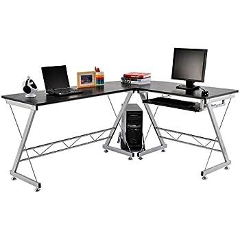 sturdy office desk. homcom corner computer desk for the home office sturdy furniture workstation new pc black s