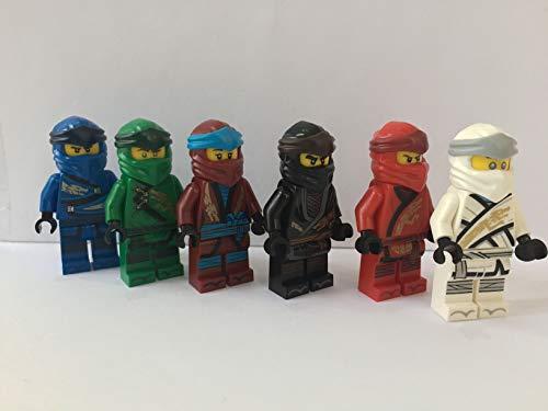 LEGO alle 6 Ninja Figuren 2019 Lloyd, Kai, Cole, Jay, NYA, Zane --Ninjago-- (aus 70670)