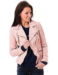 Oakwood Mujeres chaqueta de motorista asimétrica Rosa