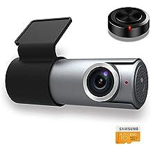 Goluk T1 Telecamera per Auto, 1080P HD Wi-Fi Videocamera Auto Registratore Dash Cam Grandangolare di 152° G-Sensore Visione Notturna Rilevamento Movimento con Carta di 16G