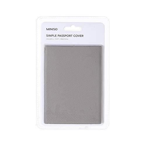 Miniso Simple Passport Cover (Grey)