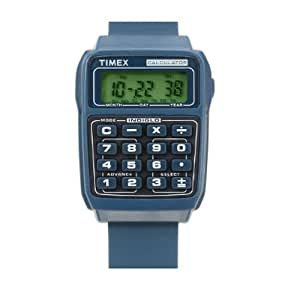 Timex Retro Ralph Blue Calculator Watch T2N236