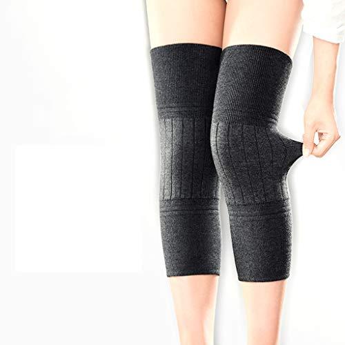 Jia He Knieschoner Kneepad - Kaschmir-Schutzknie warme Männer und Frauen, die den Winter verdicken @@ (Farbe : SCHWARZ)