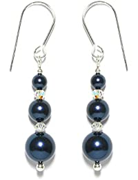 60mm Long Handmade Jet Black Crystal Earrings Made With SWAROVSKI ELEMENTS Cik9S61zd