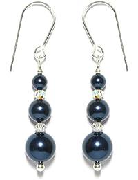 60mm Long Handmade Jet Black Crystal Earrings Made With SWAROVSKI ELEMENTS