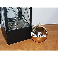 Boule de Noel avec prénom personnalisé - décoration sapin - couleur au choix