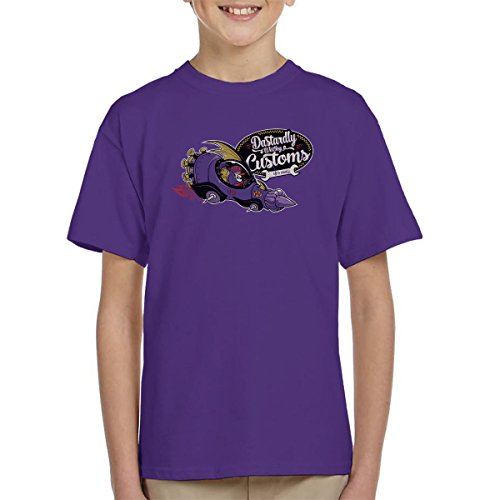 Kids Purple Dastardly Wacky Customs Wacky Races T-Shirt