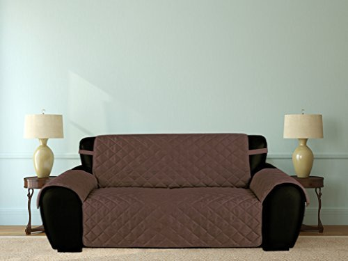 Möbel Fresh Mikrofaser Liebesschaukel Sofa und Couch Bezug, PET Displayschutzfolie mit Trägern, schokoladenbraun, XL SOFA -