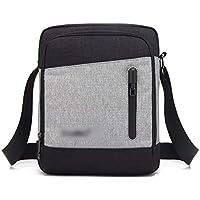 TEYUN Bolsa de Equipo liviano es Casual pequeña Bolsa de Hombro de los Hombres (Color : Grey, Size : 10inch)