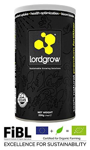 Lordgrow 200g/120L - Blatt-Biostimulant für Wachstum von Pflanzen. 100% vegan und organisch. Biomineraldüngemittel - Bio zertifizierter Dünger. | Garten > Pflanzen > Dünger | Lordgrow