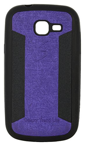 iCandy™ 2 Color Soft Lather Finish Back Cover For Samsung Galaxy Trend GT- S7392 - Purple  available at amazon for Rs.119