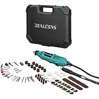 BEAUDENS Amoladora Eléctrica, Kit de herramientas rotatorias multifunción con 100 Accesorios giratoria avanzada de 6 velocidades con estuche para cortar/pulir/pulir/taladrar/esculpir