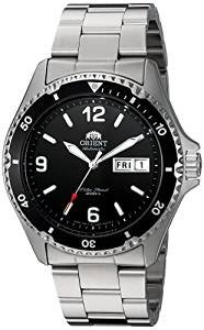 Orient Watch Men Automatic Steel, with Calendar, Submersible, Black Dial 147-faa02001b9