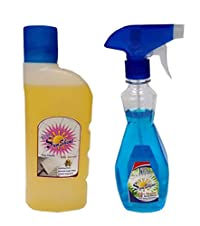 Sunshine Floor Cleaner and Glass cleaner,500ml,Combo of 2
