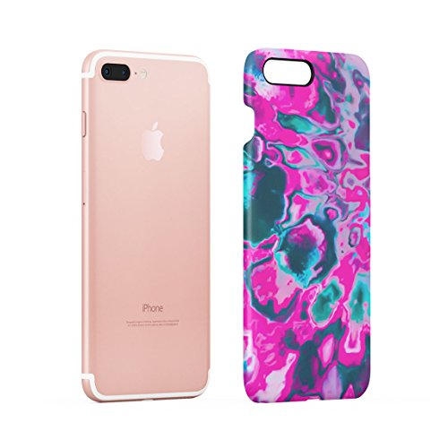 Regenbogen Hippie Holographic Print Pastel Acid Trippy Marmor Dünne Rückschale aus Hartplastik für iPhone 7 & iPhone 8 Handy Hülle Schutzhülle Slim Fit Case cover Soap Film Rainbow