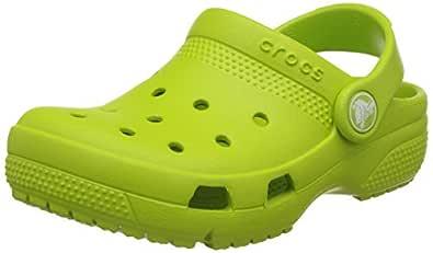 crocs Kids Unisex Coast Volt Green Clogs and Mules - C10