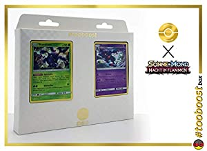 Tangoloss (Heracross) 11/147 Y Toxiquak (Toxicroak) 55/147 - #tooboost X Sonne & Mond 3 Nacht in Flammen - Box de 10 Cartas Pokémon Aleman + 1 Goodie Pokémon
