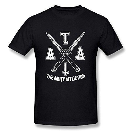 Sixtion SHFL Men's The Amity Affliction Logo O-Neck T Shirts X-Small