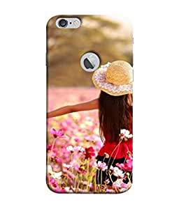 PrintVisa Designer Back Case Cover for Apple iPhone 6S (Logo View Window Case) (Colourful Flowers Garden Clear Bright Sunny Day)