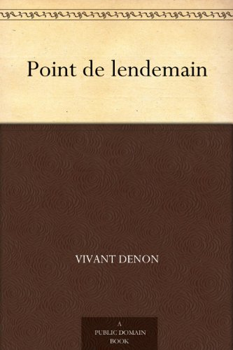point-de-lendemain-french-edition