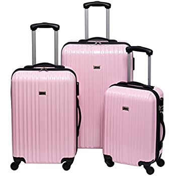 Penn Wheeled Suitcase Set, 3 Pack, 165 Litre, baby pink (pink ...