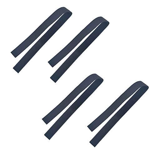 Pilika Ersatzklettband für Hoverboard Gocart Ersatzgurte Gurte für Hoverkart Go Kart Aufsätze Beide Enden sind Hook Middle is Loop 4er Pack (2 Paar)