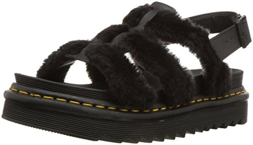 Dr Martens yelena Fluffy - Black Hydro Leather/Em Toby 900G