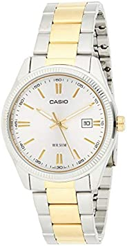Casio Men's Silver Dial Stainless Steel Analog Watch - MTP-1302SG-7