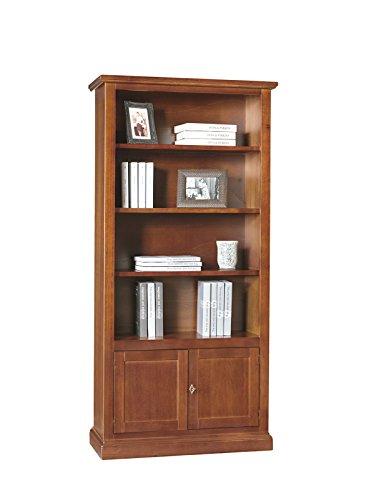 Lo Scrigno Arredamenti, Libreria/Vetrina Arte povera 2 porte ceche 4 vani tinta noce 386/N