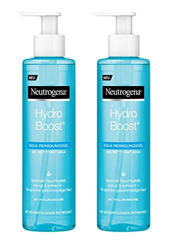 Neutrogena Hydro Boost Aqua Reinigungsgel / leichte Gel-Lotion Formulierung mit Hyaluronsäure und Glycerin / 2 x 200ml -