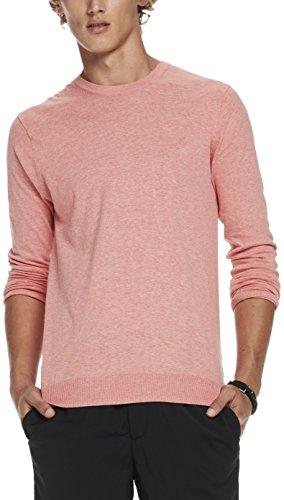 Scotch & Soda Herren Classic Crewneck Pullover in Cotton Melange Quality Rosa (Pink Ash Melange 1282)